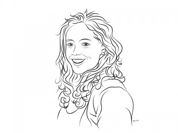 Portret Lijnillustraties
