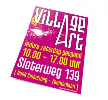 Village Art Affiche
